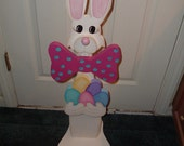Easter Bunny Porch Sitter