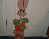 Brown Bunny Rabbit Porch Sitter