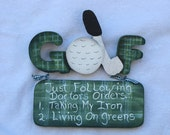 WHIMSICAL GOLF SIGNS
