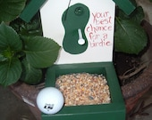 Your best chance for a birdie Golf bird feeder