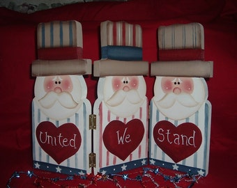 United We Stand Uncle Sam hinged screen