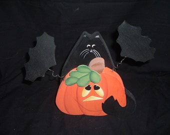 Black cat/Bats/jack OLantern decoration