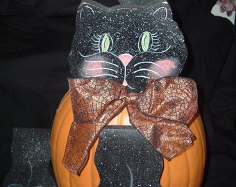 Black Cat Pumpkin Pokes