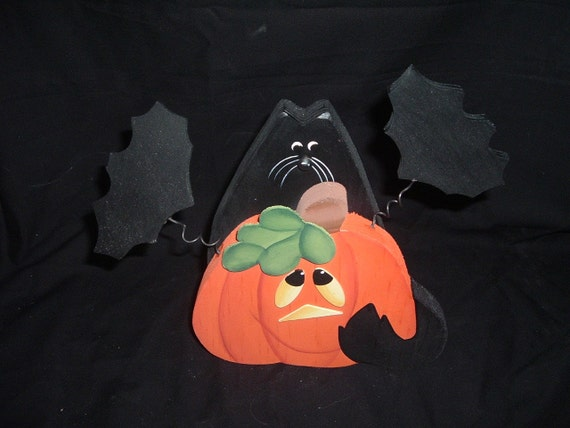 Black cat/Bats/jack OLantern decoration