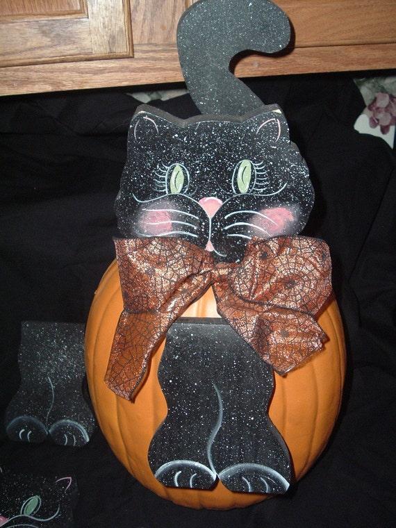 Black Cat Pumpkin Pokes
