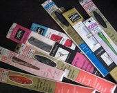 Vintage supply zippers