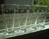 Vintage Frosted Polka Dot Glasses