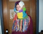 Custom Order for Heather-Rainbow Extra Long Multicolored Scarf