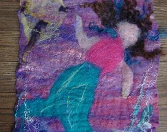Felted Mermaid Felt Wall Hanging
