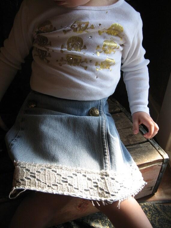 Upcycled Baby SKIrt