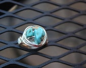 In The Rough Wrapped Ring, silver plated