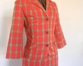 Fantastic Plaid 50s Two Piece Suit