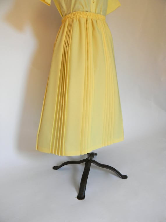 "SPRING SALE""""""""""Amazing Pleated Pale Yellow Skirt"