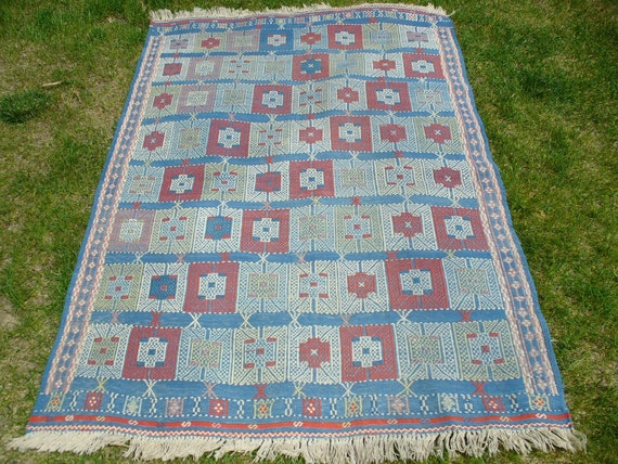 Hand Knotted Turkish Flatweave Rug