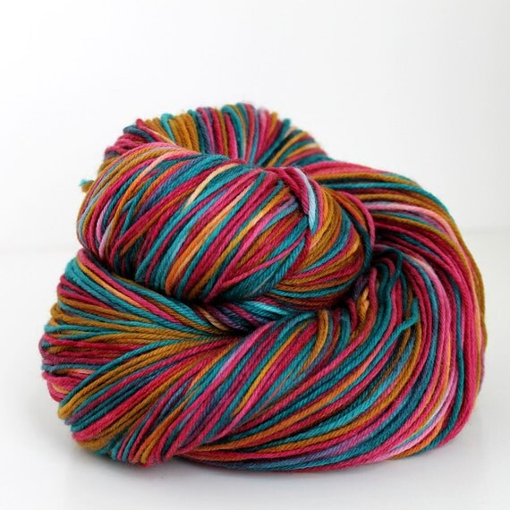 RANCHER - Hand Painted Sock Yarn - SW and Nylon - 460 yards