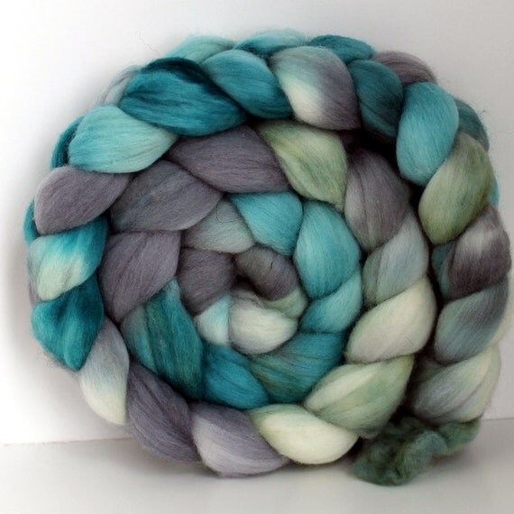 BEACH GLASS -  Merino Wool Top Roving 4oz