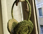 PATTERN Music for my ear...muffs, crochet thin but warm ear warmers, FREE SHIPPING