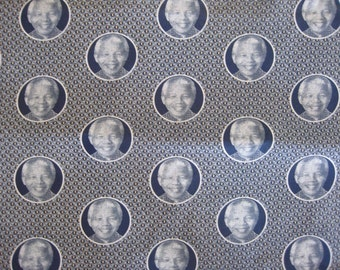 Nelson Mandela Fabric
