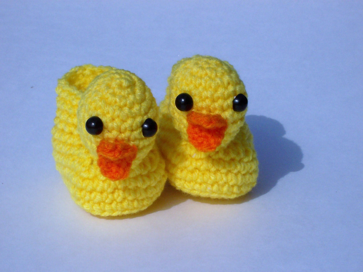 Puppy Dog Baby Hat Crochet Pattern : Yellow Ducky Slippers Crocheted Baby Booties by ...