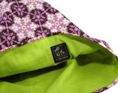 Travel Laundry Bag- Pink Ironwork Floral Print- RESERVED LISTING