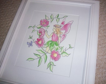 3 Whimsical Fairy Pixie Prints Pictures     Perfect for your little girls space