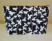 PATTERN for Zipper Make up Bag with fabric covered zipper ends - FQ Friendly