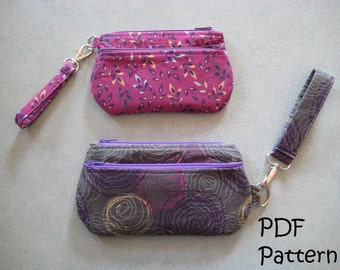 PATTERN for Wristlet in 2 sizes PDF FQ friendly - New low price!