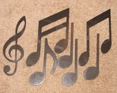 Metal Wall Art Decor MUSIC NOTES Musical Note Patio