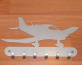 Airplane KEY RACK Home Decor Hat Leash Hanging Cessna