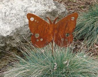 Metal GARDEN STAKE Yard Decor Lawn Ornament Butterfly Monarch