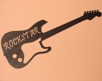 Guitar Metal WALL ART Music Musical Decor Rock Star