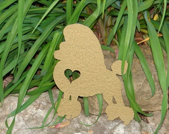 Poodle Pet Dog Memorial GARDEN STAKE Yard Lawn Ornament K9