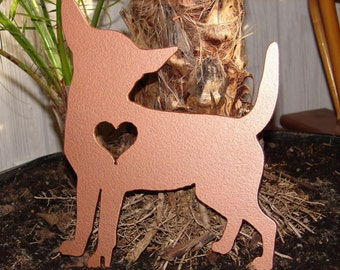 CHIHUAHUA GARDEN STAKE  Pet Dog Memorial Yard Lawn Decor