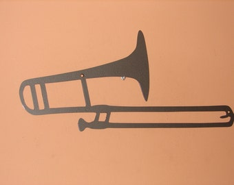 METAL WALL ART Trombone Music Decor Musical Home Patio