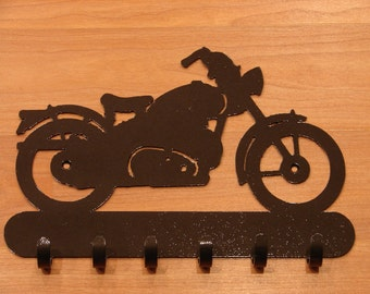 Vintage Harley Davidson MOTORCYCLE KEY RACK Coat Hook Cruiser Biker Leash