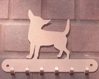 Chihuahua LEASH RACK Hat Key Hook Wall K9 Dog Pet Decor