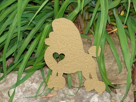 Poodle Pet Dog Memorial GARDEN STAKE Yard Lawn Ornament K9