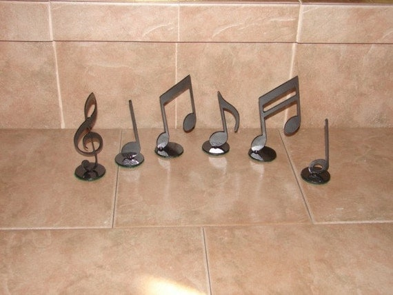Musical Notes Decor Metal Home Art Music Note Setrhetsy: Music Note Home Decor At Home Improvement Advice