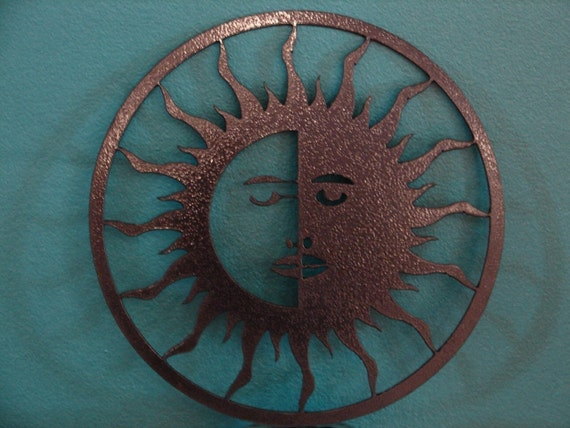Eclipse Metal Wall Decor Art Garden Patio Yard Sun Moon