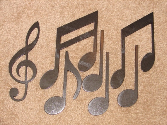 Metal Wall Art Decor MUSIC NOTES Musical Note Patio By Artbyjack