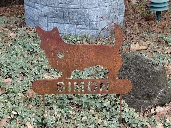 Welsh Corgi PET MEMORIAL Garden Stake Home Decor Dog Metal
