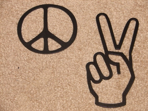 Peace Sign Wall Decor Metal : Peace package metal wall decor art sign set patio garden