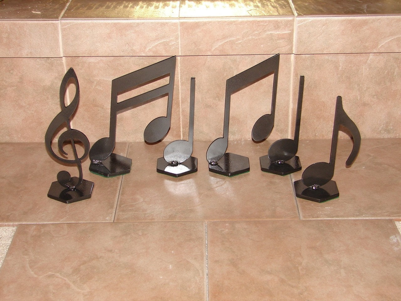 Musical notes home decor metal art music note set Metal home decor