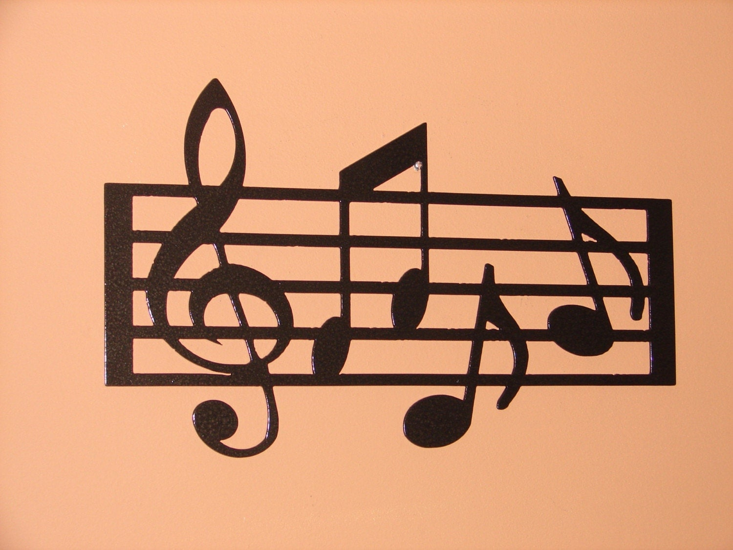 Metal Wall Art Home Decor Music Notes Musical Long 12in