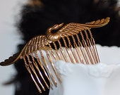FREE SHIPPING Swan Comb Hair Antiqued Retro victorian Old Hollywood Bridal GIft wedding bride shabby chic romantic feminine