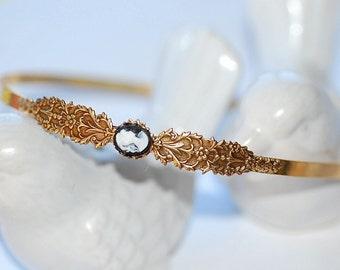Free Shipping Hairband Gold Valentina Cameo Headband gothic french shabby chic feminine bridal bride weddings girly girl old hollywood retro