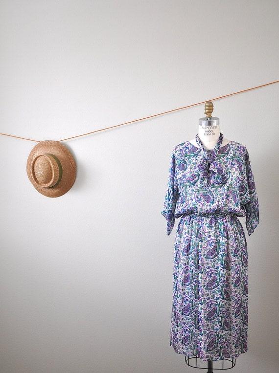 Vintage SILK DRESS SZ.M
