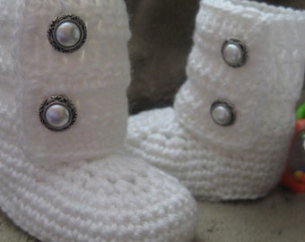 Cute Baby Boots for Boys or Girls, size 0-3m or 3-6m