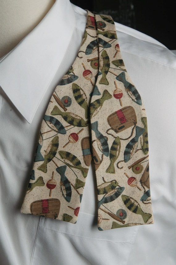 Fly fishing bow tie by pinchandpull on etsy for Fish bow tie