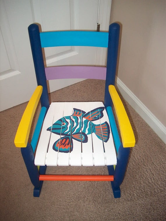 Funky Fish Child Rocking Chair Animal Ocean Sea By
